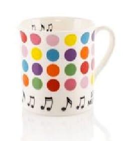 Cadeaux - Musique - Mug - Tasse à points - Accessoire - di-arezzo.fr