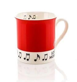 Mug - Tasse Rouge Love music - Cadeaux - Musique - laflutedepan.com