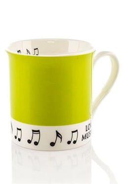 Cadeaux - Musique - Tasse - Grüne Tasse Liebesmusik - Musikzubehör - di-arezzo.de