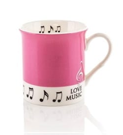 Cadeaux - Musique - Mug - Rose Love Music Mug - Accessory - di-arezzo.co.uk