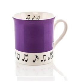 Mug - Tasse Violette Love music - Cadeaux - Musique - laflutedepan.com