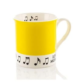 Cadeaux - Musique - Mug - Yellow Cup Love music - Accessory - di-arezzo.co.uk