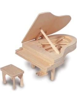 Jeu musical pour enfant - Wooden Piano Quay to Build in Kit - Accessory - di-arezzo.com