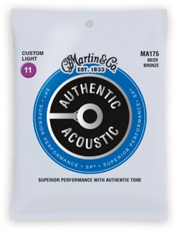 Cordes pour Guitare - Guitar String Set MARTIN Authentic Bronze Custom Light - 11-52 - Accessory - di-arezzo.com