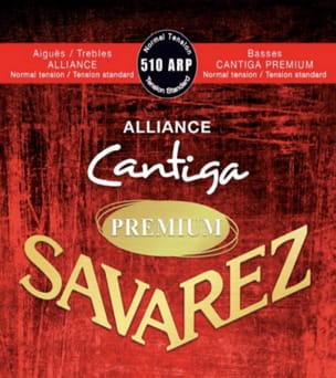 Jeu de Cordes Savarez Alliance Cantiga premium rouge tension normal laflutedepan