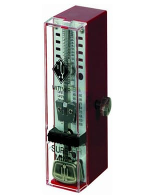 Métronome Mécanique WITTNER® - Metronome WITTNER SUPER MINI TAKTELL WITHOUT RINGER: Ruby Red - Accessory - di-arezzo.co.uk