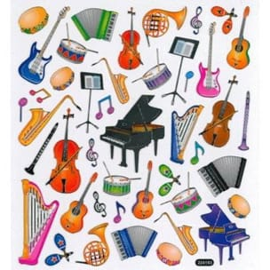 Cadeaux - Musique - Stickers instruments and musical notes - Accessory - di-arezzo.co.uk