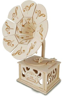 Jeu musical pour enfant - Wooden gramophone to build in Kit - Accessory - di-arezzo.com