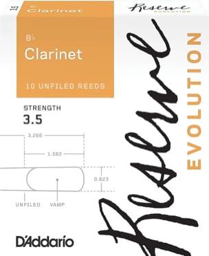 D'Addario Réserve Evolution - Anches Clarinette Si bémol 3.5 laflutedepan