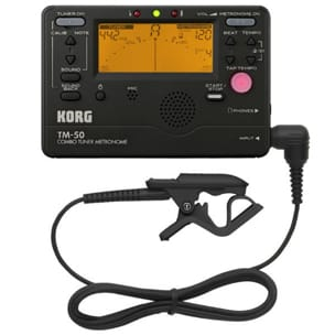 Accordeur & Métronome - TM50C BLACK KORG - Tuner and Metronome Contact Microphone - Accessory - di-arezzo.co.uk