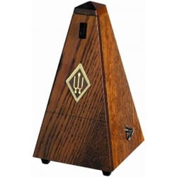Métronome Mécanique WITTNER® - WITTNER Metronome: SATIN BROWN OAK WOOD - No ringing - Accessory - di-arezzo.co.uk