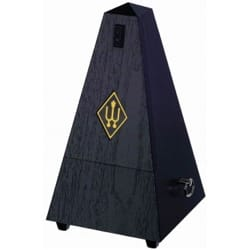 Métronome Mécanique WITTNER® - Metronome WITTNER: Plastic effect BOIS NOIR - Without ringing - Accessory - di-arezzo.co.uk