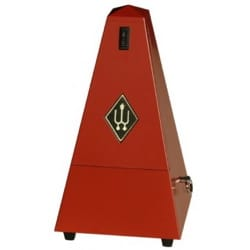 Métronome Mécanique WITTNER® - Metronome WITTNER: Plastic RED MAT - No ringing - Accessory - di-arezzo.co.uk