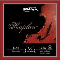 Cordes pour Violoncelle KAPLAN - Rope only: LA for CELLO 4/4 KAPLAN - MEDIUM tie - Accessory - di-arezzo.com