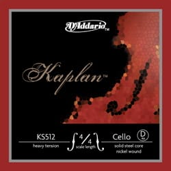 Cordes pour Violoncelle KAPLAN - KAPLAN ™ 4/4 CELLO ADDARIO RE Rope - MEDIUM Tie - Accessory - di-arezzo.co.uk