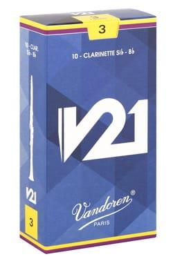 Anches pour Clarinette Sib VANDOREN® - Vandoren CR803 - Anches V21 Clarinette Si bémol 3.0 - Accessoire - di-arezzo.fr