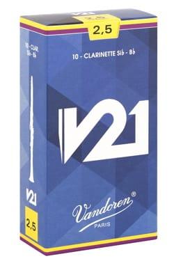 Vandoren CR8025 - Anches V21 Clarinette Si bémol 2.5 laflutedepan