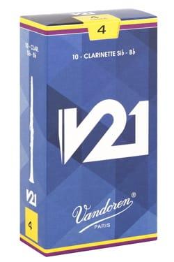 Anches pour Clarinette Sib VANDOREN® - Vandoren CR804 - Anches V21 Clarinette Si bémol 4.0 - Accessoire - di-arezzo.fr