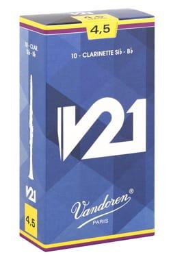 Anches pour Clarinette Sib VANDOREN® - Vandoren CR8045 - Anches V21 Clarinette Si bémol 4.5 - Accessoire - di-arezzo.fr