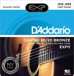 Cordes pour Guitare Acoustique - 6 String Set EXP11NY D'ADDARIO - Light 12-53 - FOLK GUITAR - Accessory - di-arezzo.com