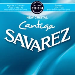 Cordes pour Guitare Classique - SET OF Ropes SAVAREZ CANTIGA NEW CRYSTAL BLUE - Strong tension low polished - Accessory - di-arezzo.com