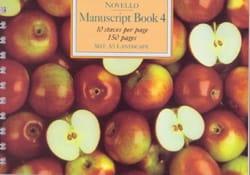Cahier de Musique - Manuscript Book 4 - Stationery - di-arezzo.com