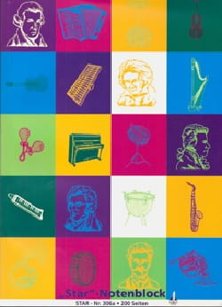 Cahier de Musique - Music paper pad - 12 Liters - Stationery - di-arezzo.co.uk