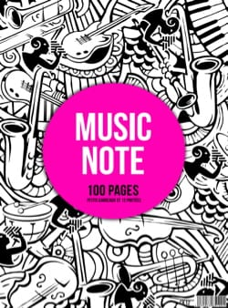 Cahier de Musique - MIXED Spiral Music Notebook: Scopes and Small Tiles - MUSIC NOTE - Stationery - di-arezzo.co.uk