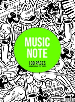 Cahier de Musique - MIXED Spiral Music Notebook: Scopes and Large Tiles - MUSIC NOTE - Stationery - di-arezzo.com