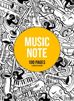 Cahier de Musique - Spiral Music Notebook - 12 Spans - MUSIC NOTE - Stationery - di-arezzo.com