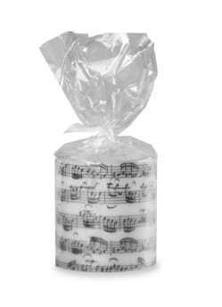 Cadeaux - Musique - Round candle - Writing by Jean-Sébastien BACH - Accessory - di-arezzo.co.uk