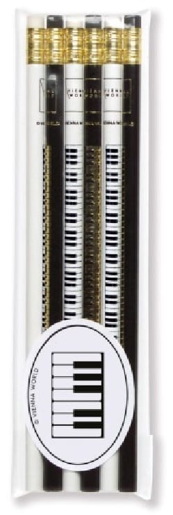 Cadeaux - Musique - Set of 6 pencils - PIANO KEYBOARD - Accessory - di-arezzo.com
