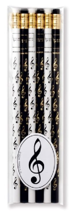 Cadeaux - Musique - Set of 6 pencils - KEY OF SOL - Accessory - di-arezzo.co.uk