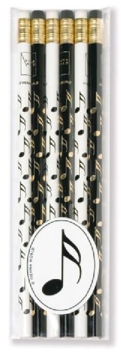 Cadeaux - Musique - Set of 6 pencils - DOUBLE-CROCHE - Accessory - di-arezzo.com