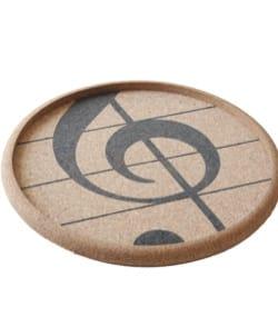 Cadeaux - Musique - Rundes Kork-Tablett - Violinschlüssel - Musikzubehör - di-arezzo.de