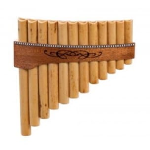 Instrument de Musique : Flûte de Pan - Instrument - Premium PAN FLUTE in C major with 12 tubes - Accessoire - di-arezzo.co.uk