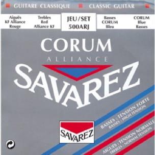 Cordes pour Guitare Classique - SAVAREZ Alliance Corum 500ARJ Strings - Classical Guitar - Accessoire - di-arezzo.com
