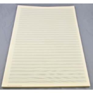 Papier à Musique - 30 portées - Grand Format - laflutedepan.com