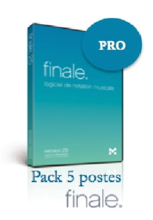 Logiciel FINALE 25 - COMPLET - LabPack 5 Postes - laflutedepan.com