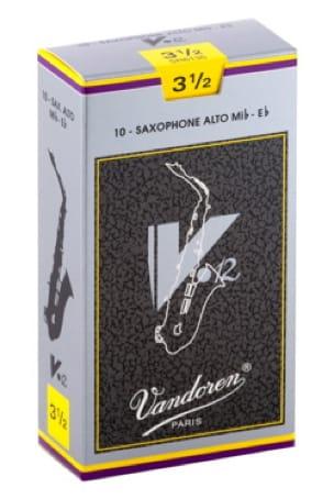 Anches pour Saxophone Alto VANDOREN® - Boite de 10 anches VANDOREN série V12 pour SAXOPHONE ALTO force 3,5 - Accessoire - di-arezzo.fr