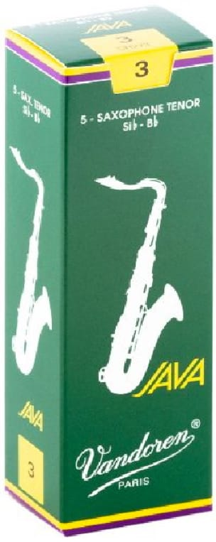 Anches pour Saxophone Ténor VANDOREN® - 5 VANDOREN reeds JAVA series for TENOR force 3 SAXOPHONE - Accessoire - di-arezzo.co.uk