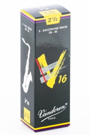 Anches pour Saxophone Ténor VANDOREN® - Box of 5 reeds VANDOREN V16 series for SAXOPHONE TENOR force 2.5 - Accessoire - di-arezzo.co.uk
