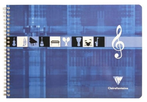 Papeterie Musicale - CLAIREFONTAINE Music Notebook - Italian Format - Papier - di-arezzo.co.uk