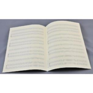 Papier à Musique - Music Paper - Special CHANT (or INSTRUMENT) and PIANO - Grape Format - Papier - di-arezzo.com