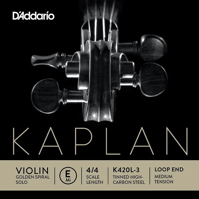 Cordes pour Violon - Corde seule : MI Violon KAPLAN GOLDEN SPIRAL solo à boucle - Tirant MOYEN - Accessoire - di-arezzo.fr