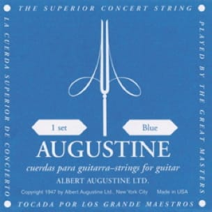 Cordes pour Guitare AUGUSTINE - AUGUSTINE Blue Guitar String Set - Accessoire - di-arezzo.com