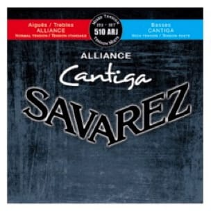 Cordes pour Guitare Classique - SET of Guitar Strings SAVAREZ CANTIGA ALLIANCE BLUE / RED mixed voltage - Accessoire - di-arezzo.com