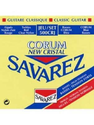 JEU de Cordes pour Guitare SAVAREZ NEW CRISTAL CORUM ROUGE / BLEU tension mixt - laflutedepan.com