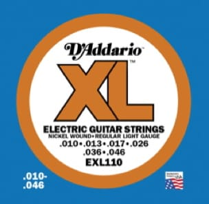 Cordes pour Guitare - ADDARIO EXL110 String Set Electric Guitar Regular Light - Accessoire - di-arezzo.co.uk