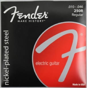Cordes pour Guitare - Juego de 6 cuerdas Fender 250R guitarra eléctrica de acero niquelada regular 10- Accessoire - di-arezzo.es